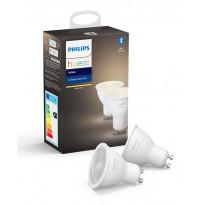 LED-älylamppu Philips Hue W, 6W, GU10, 2kpl/pkt