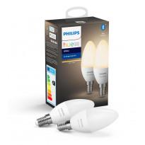 LED-älylamppu Philips Hue W, 5.5W, E14, 2kpl/pkt