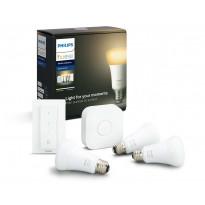 Aloituspakkaus Philips Hue WA, 3kpl älylamppu (E27, 8.5W) + silta + himmennin