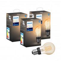 LED-älylamppu Philips Hue W, 7W, E27, A60, 3kpl/pkt