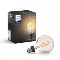 LED-älylamppu Philips Hue W, 7W, E27, G93