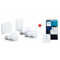 Aloituspakkaus Philips Hue, White, 9.5W, A60, E27, 3kpl + kytkin + Motion Sensor liiketunnistin