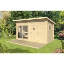 Sauna Polhus Risto, 8 m², 4196x2430x2084+1512 mm, 70 mm