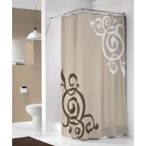 Suihkuverho Sealskin Duchess, 180x200cm, ruskea, tekstiili