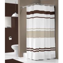 Suihkuverho Pisla Sealskin Urban, 180x200cm, ruskea/valkoinen, tekstiili