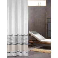 Suihkuverho Sealskin Marrakech, 180x200cm, hopea, tekstiili