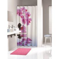 Suihkuverho Pisla Sealskin Spa, 180x200cm, pinkki, tekstiili