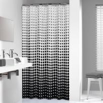 Suihkuverho Sealskin Speckles, 180x200cm, musta/valkoinen, tekstiili