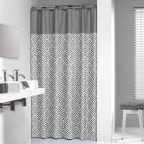 Suihkuverho Sealskin Angoli, 180x200cm, harmaa/valkoinen, tekstiili