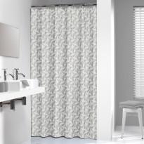Suihkuverho Pisla Sealskin Piega 3D, 180x200cm, harmaa, tekstiili