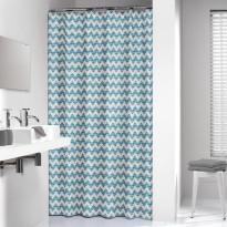 Suihkuverho Sealskin Motif, 180x200cm, turkoosi, tekstiili