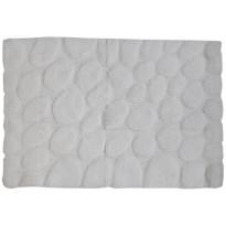 Kylpyhuonematto Pisla Sealskin Pebbles, 60x90cm, valkoinen