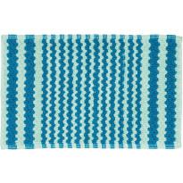 Kylpyhuonematto Pisla Sealskin Motif, 50x80cm, turkoosi