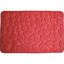 Kylpyhuonematto Pisla Duschy Rimini, 60x95cm, punainen