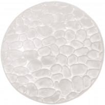 Kylpyhuonematto Pisla Duschy Bellarina, Ø 60cm, valkoinen
