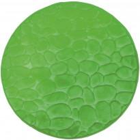 Kylpyhuonematto Pisla Duschy Bellarina, Ø 60cm, lime