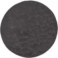 Kylpyhuonematto Pisla Duschy Bellarina, Ø 60cm, tummanharmaa