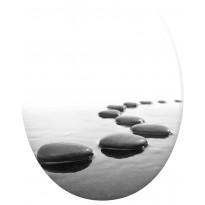 WC-istuinkansi Pisla Duschy Stones, SC/QR, kivikuvio