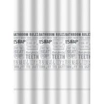 Suihkuverho Duschy Bathroom Rules, 180x200cm