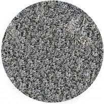 Kylpyhuonematto Duschy Brisbane, Ø90cm, musta/valkoinen