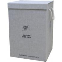 Pyykkikori Sealskin Esbada, 60x40x30cm, harmaa, pellava