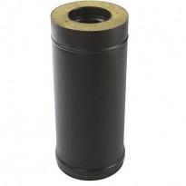 Eristetty jatko-osa Pisla-kamiinalle, 1000mm/150mm, musta/rst