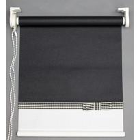 Rullaverho Aino, musta/valkoinen, 70-200x170cm, eri kokovaihtoehtoja