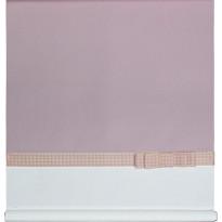 Rullaverho Aino, vaaleanpunainen/valkoinen, 70-200x170cm
