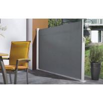 Sivumarkiisi Pisla, 1.2x3m, akryyli, harmaa/valkoinen