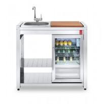 Pöytätaso integroidulla jääkaapilla PLA.NET OASI 97 ICE, pesualtaalla