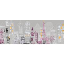 Sängynpäätytarra Käynti Pariisissa, 160x59cm