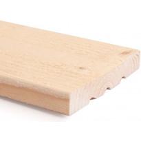 Ulkoverhouslauta US Wood HSP, mitall. kuusi, 23x170mm, ST, pohjamaalattu valkoinen