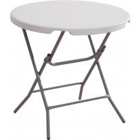 Kokoontaitettava pöytä AB Polar, 80cm, valkoinen