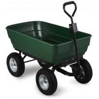 Nelipyöräkottikärry AB Polar, 75L, 120kg, vihreä