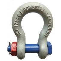 Sakkeli pussi Powertex blue pin, pultilla, mutterilla ja sokalla, 833, 4.75t