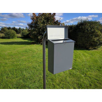 Pate-Kaari-postilaatikkoteline PP-Tuote, 2-laatikkoa, jatko-osa