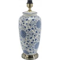 Lampunjalka PR Home Li Jing, 490 x 220 mm, valkoinen/sininen