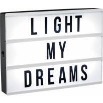 Lightbox LED PR Home 90 kirjainta, A4, ajastin