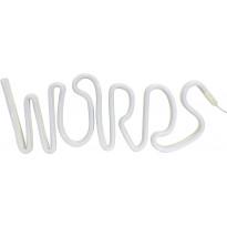 Seinävalaisin PR Home Words LED, 190 x 400 x 20 mm, valkoinen