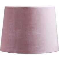 Varjostin PR Home Sofia, samettivarjostin, Ø250/220x180mm, vaaleanpunainen