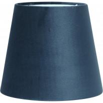 Varjostin PR Home Mia, samettivarjostin, Ø 200/145 x 170 mm, sininen