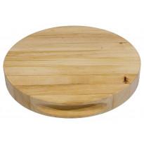 Leikkuulauta, 29x3,8cm, pyöreä, tervaleppää