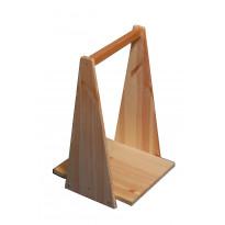Puunkantoteline, umpipuuta, 30x30x50cm