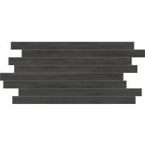 Mosaiikkilaatta Pukkila Home Teak Dark Muretto, himmeä, sileä, 500x250mm