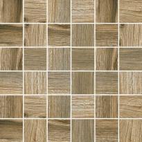 Mosaiikkilaatta Pukkila Natura Wood Multicolor, himmeä, sileä, 50x50mm
