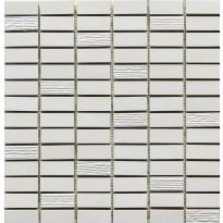 Mosaiikkilaatta Pukkila Esprit mosaiikki Snow, himmeä, sileä, 49.5x15mm