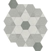 Kuviolaatta Pukkila Puntozero Rosone Freddo, himmeä, sileä, 470x550mm