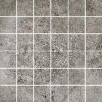 Mosaiikkilaatta Pukkila Reden Dark Grey, himmeä, sileä, 47x47mm