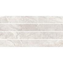 Mosaiikkilaatta Pukkila Blackboard White Moretto, himmeä, sileä, 600x300mm