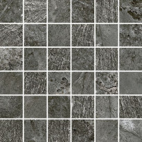 Mosaiikkilaatta Pukkila Blackboard Anthracite, himmeä, sileä, 300x300mm